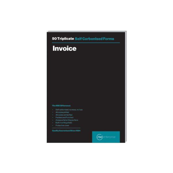 RBE A5 Invoice Triplicate Pad