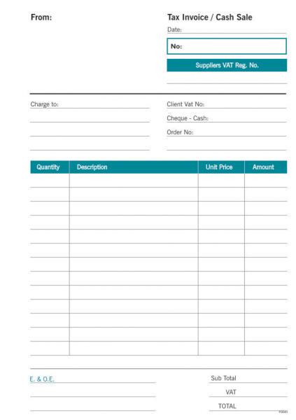 A5 Cash Sale Triplicate Form