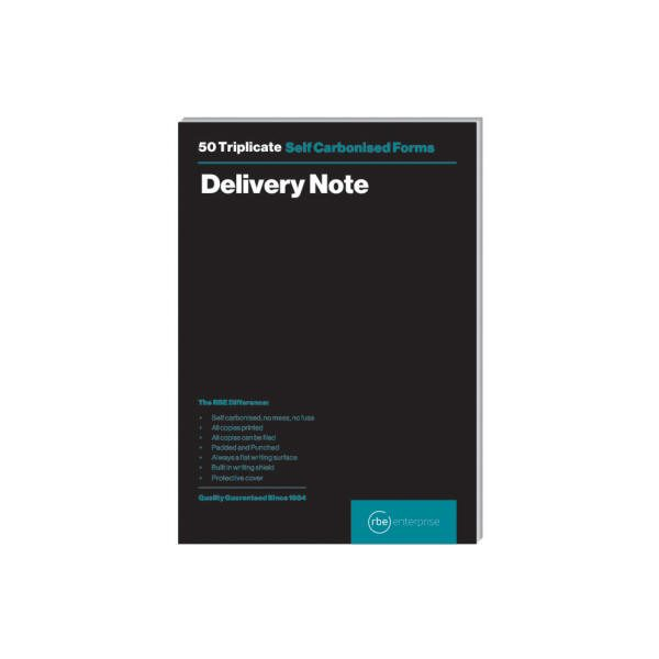 A5 Delivery Note Triplicate Pads