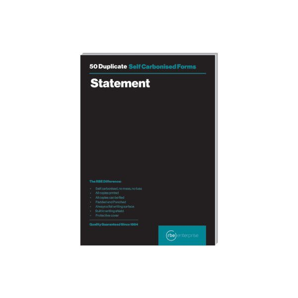 A5 Duplicate Statement Pad