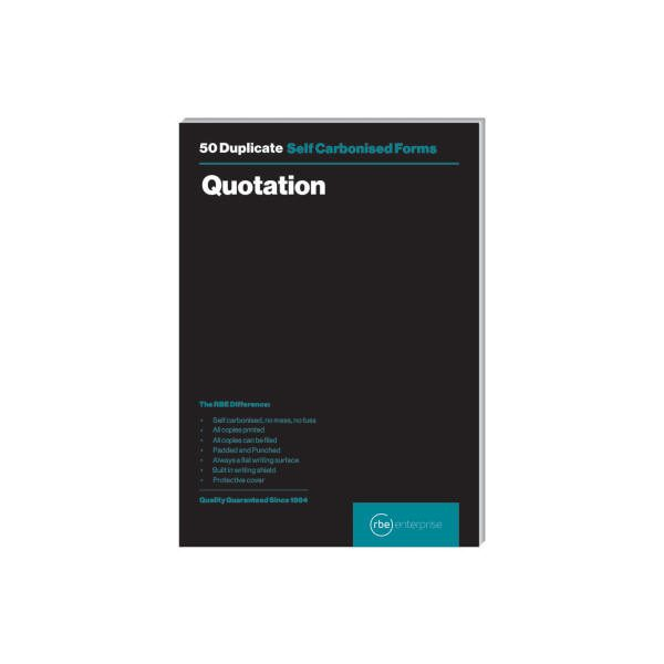 A5 Duplicate Quotation Pad