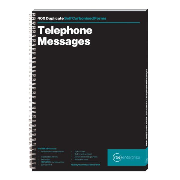 Telephone Message Book - 8 to View