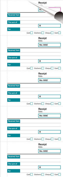 Receipt Book Duplicate Form