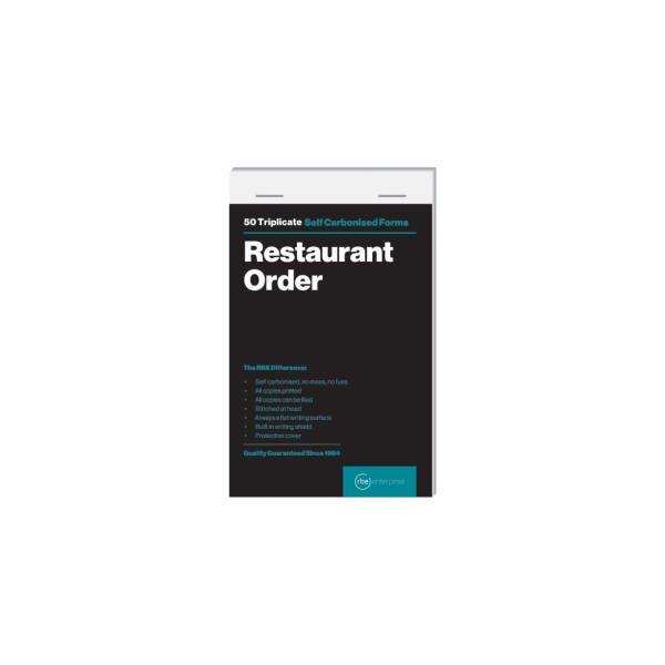 Restaurant Order Triplicate Pads