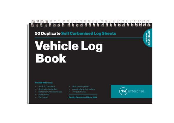 A5 Vehicle Log Duplicate Book