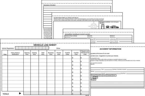 A5 Vehicle Log Duplicate Book Inside Forms