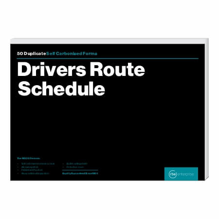 A4 Drivers Route Schedule Duplicate Spiral Bound Book