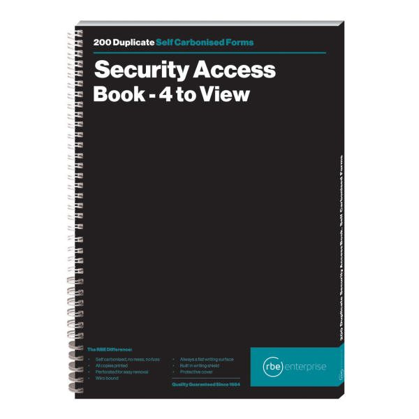 Security Access Duplicate Book - 4 to View
