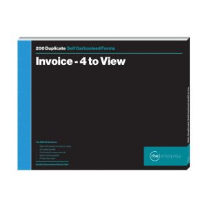 A4 Invoice Duplicate Book - 4 to View
