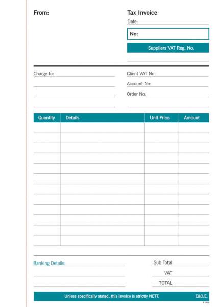 A5 Invoice Duplicate Spiral Bound Book