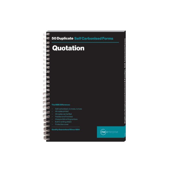 A5 Quotation Duplicate Spiral Bound Book