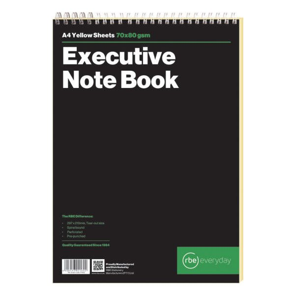A4 Executive Note Book Spiral Bound