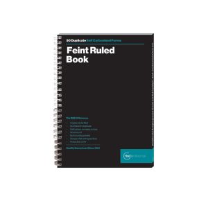 A5 Feint Ruled Duplicate Spiral Bound Book