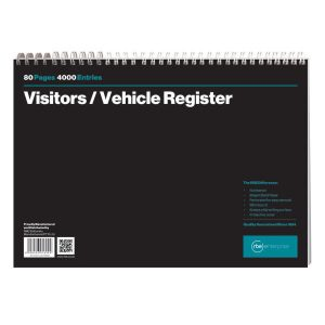 Visitor & Vehicle Register Spiral Bound Book