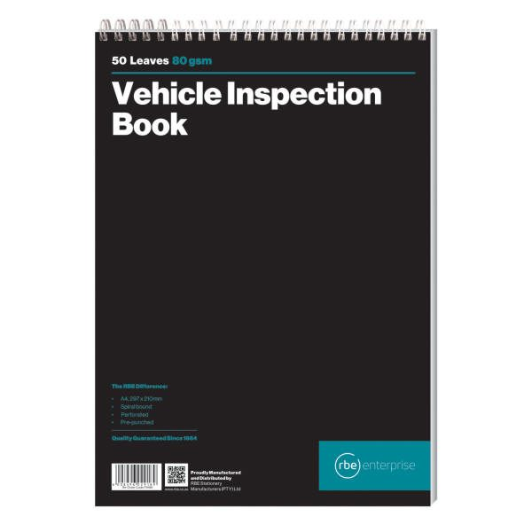 A4 Vehicle Inspection Book