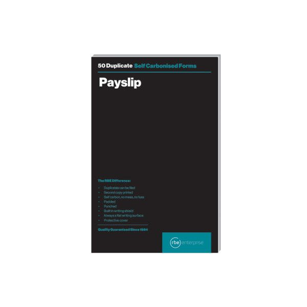 RBE Payslip A5 Duplicate Pad