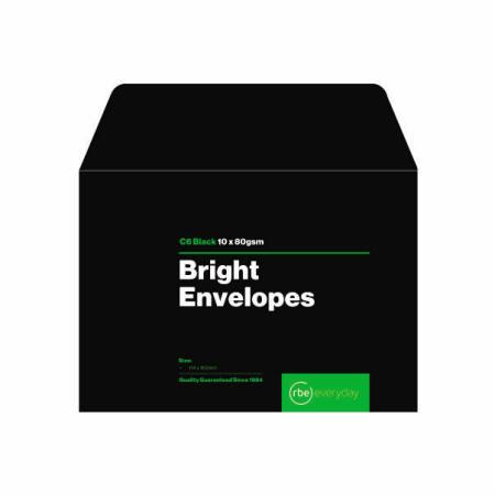 Bright Black C6 Envelopes