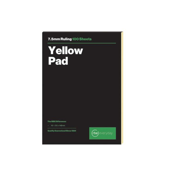 Yellow Ruled A5 Pad