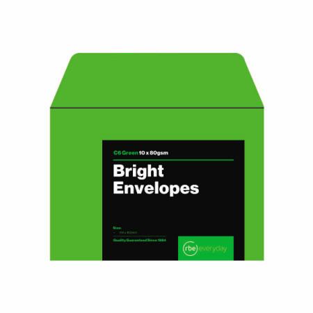 Bright Green C6 Envelopes