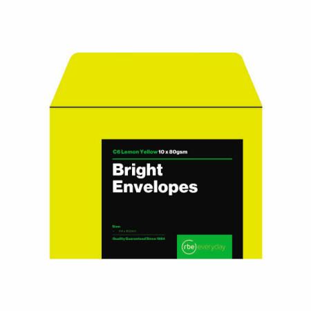 Bright Lemon Yellow C6 Envelopes