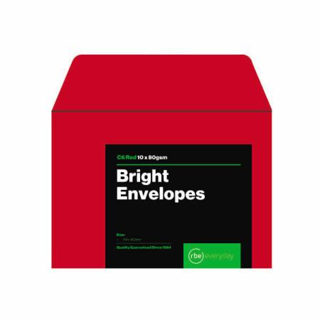 Bright Red C6 Envelopes