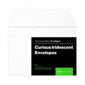 Curious Iridescent Cryogen White C6 Envelopes