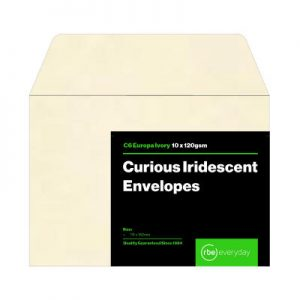 Curious Iridescent Europa Ivory C6 Envelopes