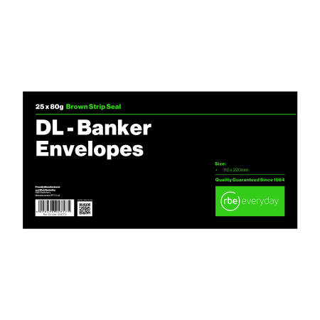DL Banker Brown Envelope