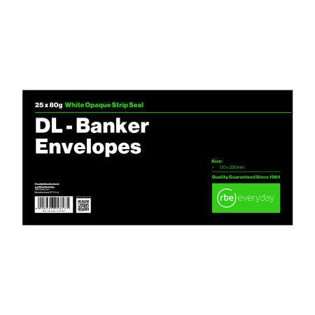 DL Banker White Envelope