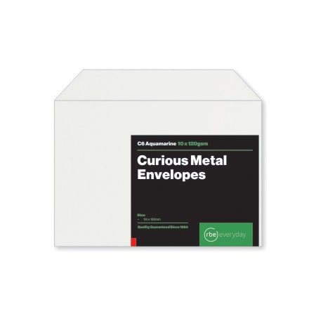 Curious Metal Aquamarine C6 Envelopes