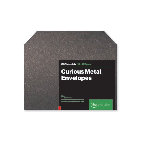 Curious Metal Chocolate C6 Envelopes