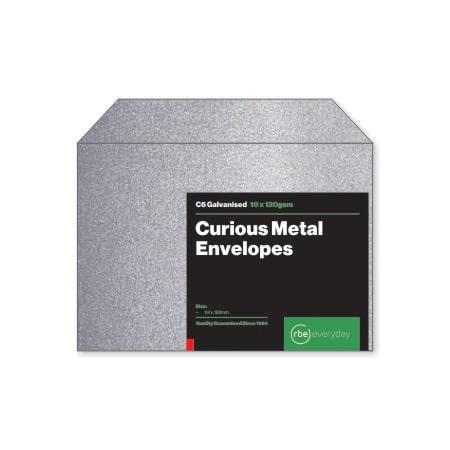 Curious Metal Galvanised C6 Envelopes
