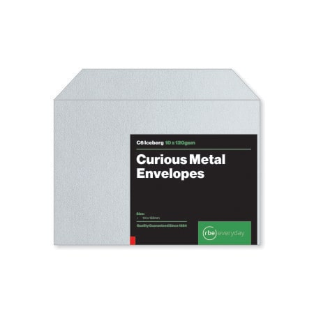 Curious Metal Iceberg C6 Envelopes