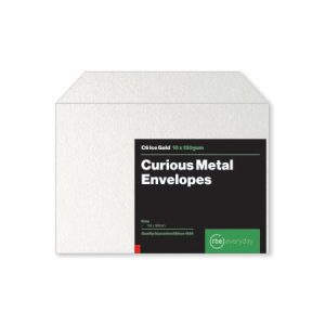 Curious Metal Ice Gold C6 Envelopes