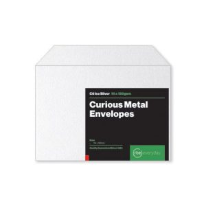 Curious Metal Ice Silver C6 Envelopes