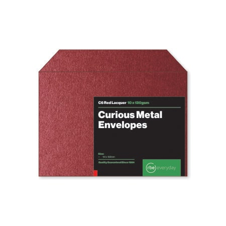 Curious Metal Red Lacquer C6 Envelopes