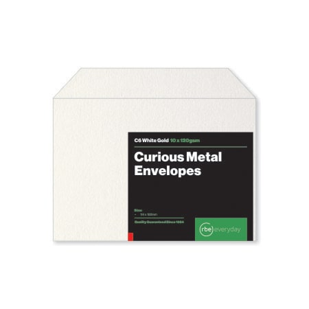 Curious Metal White Gold C6 Envelopes