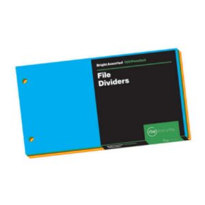 Bright Assorted File Dividers