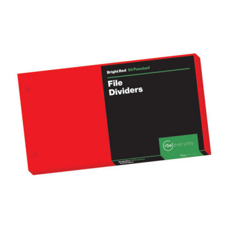 Bright Red File Dividers