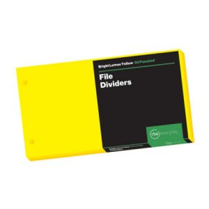 Bright Lemon Yellow File Dividers