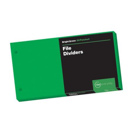 Bright Green File Dividers