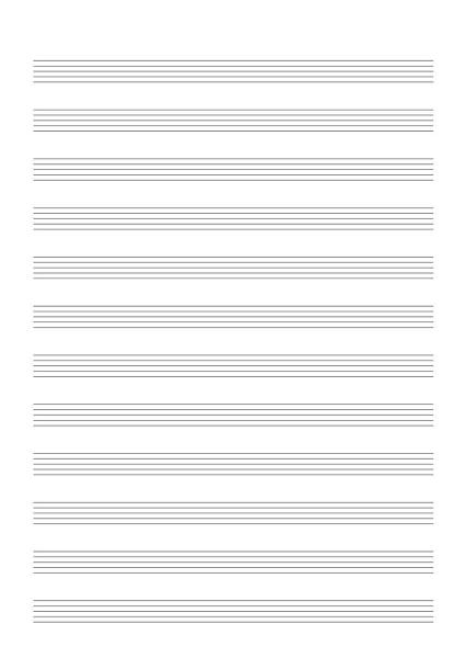 12 Stave Music Book Inside Form