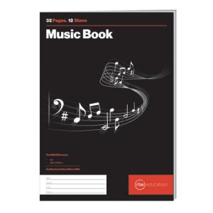 12 Stave Music Book