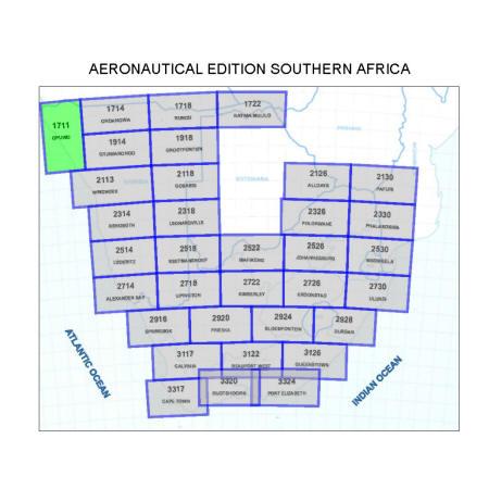 Opuwo Aviation Map 1:500 000