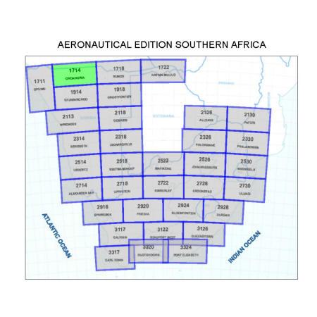 Ondangwa Aviation Map 1:500 000