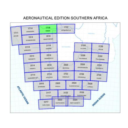 Rundu Aviation Map 1:500 000
