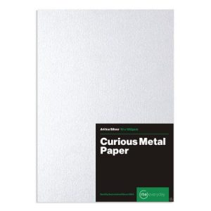 Curious Metal Ice Silver Paper