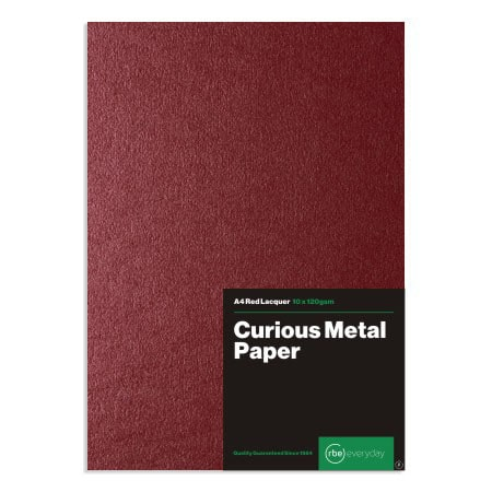 Curious Metal Red Lacquer Paper