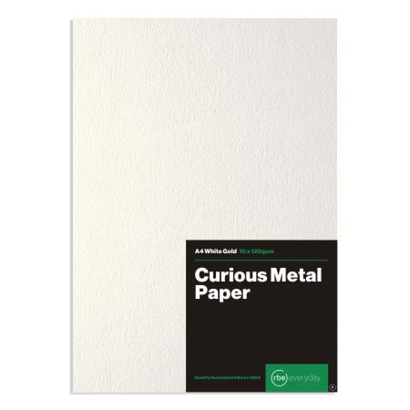 Curious Metal White Gold Paper