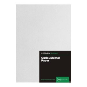 Curious Metal White Silver Paper